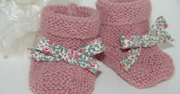 tuto de petits chaussons j 39 tricoter pour les b b s pinterest layette and tricot. Black Bedroom Furniture Sets. Home Design Ideas