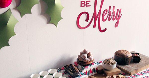 La decoraci n de mis mesas diy mural decorativo de hojas - Murales decorativos de navidad ...