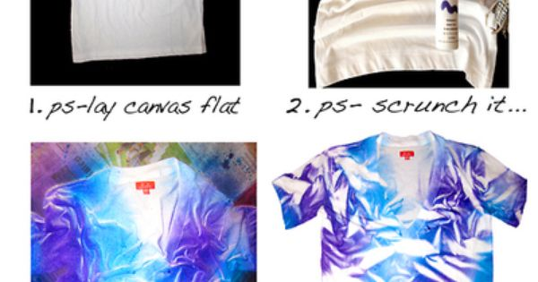 Tie dye alternative spray paint t shirt