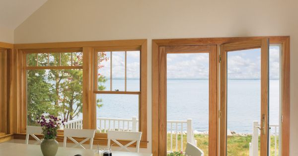 Hinged french patio doors and placement windows with for Custom patio doors