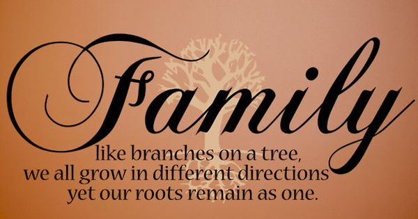 Family Like Branches Wall Quote By PurpleHeartz On Etsy