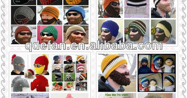 Mütze bearded crochet ritter helm babymütze tier hut tuque winter ...