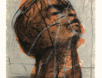 william kentridge orange head