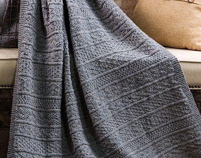 Knitting pattern for Gansey Afghan and more sampler throw ...
