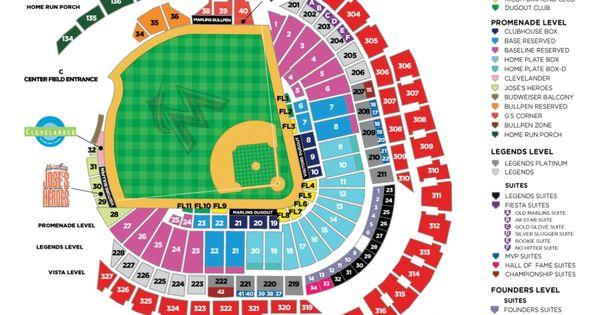 Marlins Park Seating Chart Seating Charts Marlins Phillies