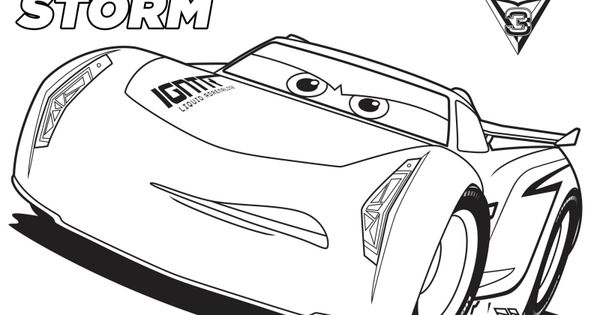 Disney Cars 3 Jackson Storm Coloring Page Printable