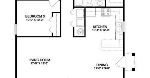 1200 sq ft bungalow floor plans for the home pinterest for 1200 sq ft bungalow floor plans
