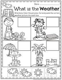 February Preschool Worksheets Planning Playtime Weather Activities Preschool February Preschool Worksheets Preschool Weather Weather worksheet for preschool