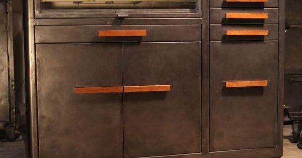 mobilier industriel ancien de m tier de dentiste deco loft industrial meuble industriel. Black Bedroom Furniture Sets. Home Design Ideas