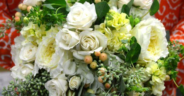 Romantic, soft wedding flowers for an October bride ~ flowers by Monday Morning Flowers, Princeton, NJ www.perfectweddingflowers.com