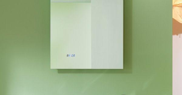 Miroir salle de bain r tro clairage led horloge et for Best buy miroir