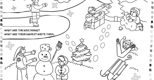 Winter Theme Coloring Pages | Free Printable Worksheets 4 Kids ...