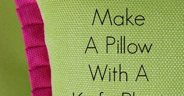 How To Make A Throw Pillow With Ruffle : How To Make A Pillow With Knife Pleat Ruffle Sewing tutorials, Ruffles and Tutorials