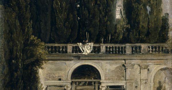 Vel zquez jard n de la villa m dicis en roma entrada de for Jardin villa medicis rome
