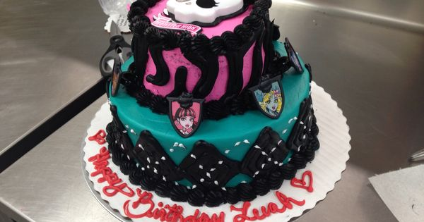Custom Order Monster High Two Tier Cake All Buttercream