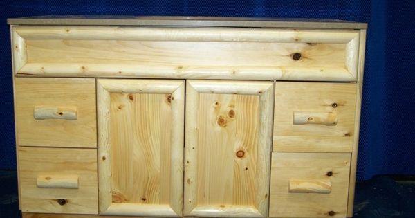 Knotty Pine Rustic Bathroom Vanity Products I Love