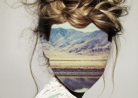 Erin Case -surreal self portrait. Mine would have pictures of Paris and/or