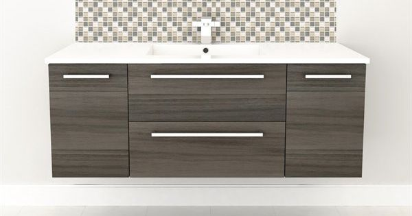 """Cutler Kitchen & Bath FV ARIA48 Silhouette Collection 48"""" Wall Hung Vanity With Top"""