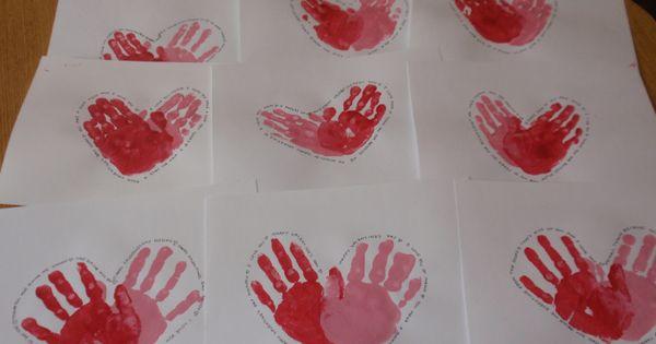 Heart hand print