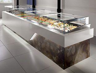 Oscartek Display Cases Gelato Pastry Deli Pre Packaged Food Shop Counter Design Counter Design Bakery Display