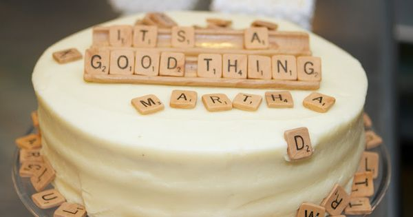 scrabble cake!!