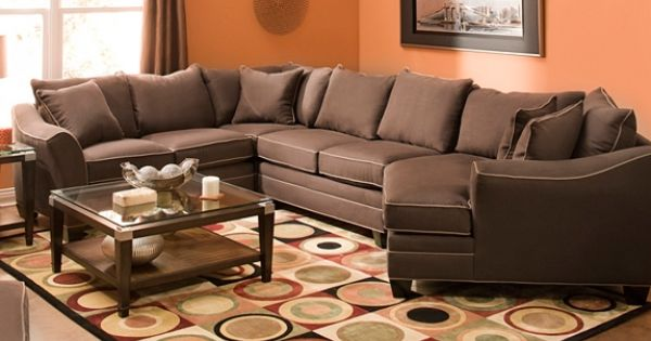 Foresthill 4-pc. Microfiber Sectional Sofa | Sectional ...