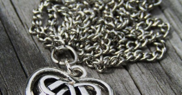 Silver Plated Celtic Heart Pendant Necklace by DragonInDixie, $12.00