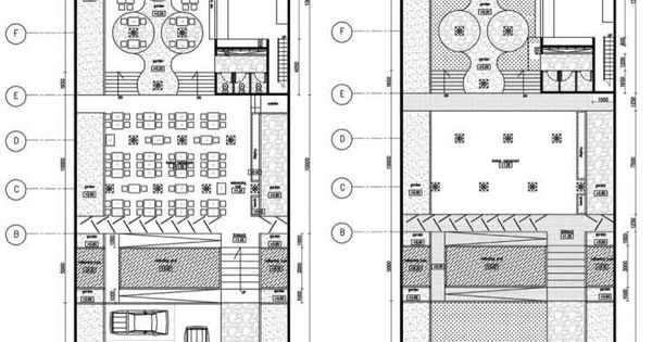 Floor plan sketch bamboo restaurant in jakarta c r b s