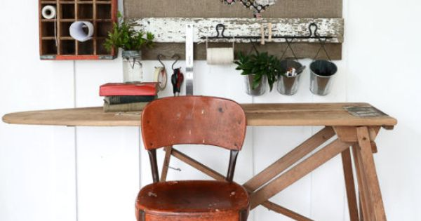 make your own upcycled office furniture vintage ironing boards
