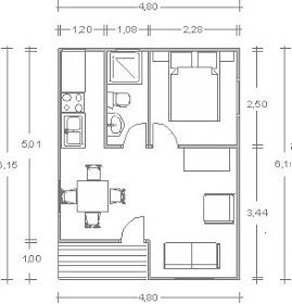 Casita De Madera1 Habitaciones 1 Cuartos De Bano Completo Cocina Salon Comedor Porch Acceso Planos De Casas Planos De Casas Pequenas Casas Prefabricadas