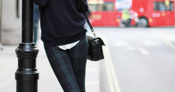 Plaid pants via Style Scrapbook