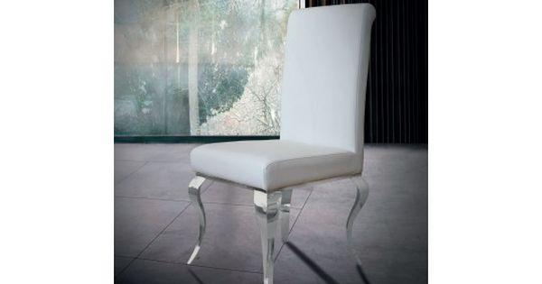 Http Mobiliernitro Com 36066 Thickbox Atch Grande Chaise Baroque Metal Simili Cuir Letizia Blanche Jpg Chaise Baroque Chaise Design Decoration Maison