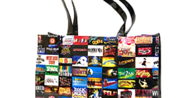 Broadway Shows Vinyl Tote Bag Purse 12 5 Inches Tall