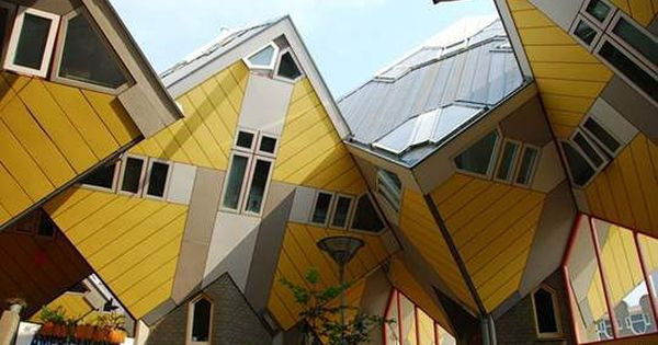 This would be a crazy house to inspect.... Cubic Houses in Rotterdam,