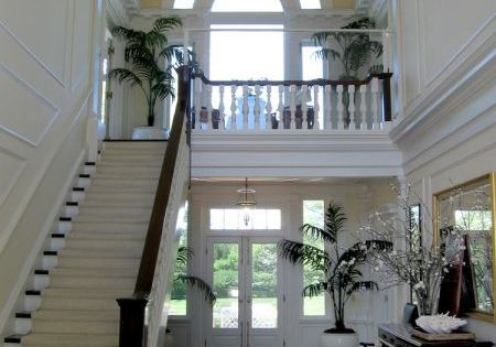 Entry hall of a southern plantation home in Louisiana. Aquin