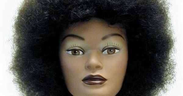 Hair Styling Mannequin Head: Afro American African American Haircut Mannequin Head