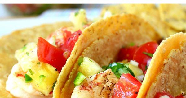 Super Simple Shrimp Tacos with Pineapple Salsa | Recipe | Shrimp, The ...