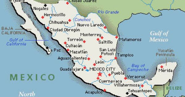 Mexico Map Mexico Map Mexico Cuernavaca