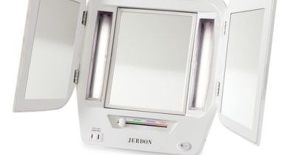 Buy 5x Lighted Tri Fold Makeup Vanity Mirror From Bed Bath