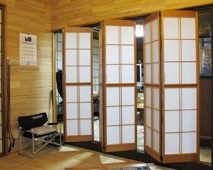 Bifold Shoji Doors On Aluminum Track Shoji Doors Decor Around Tv Shoji Screen