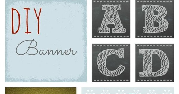 Classroom Decor Printables ~ Free printable chalkboard letters for banner