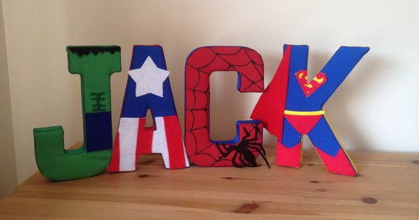 Superhero Fabric Wall Letters Could Make All Star Wars For Jackson 39 S New Big Boy Room To