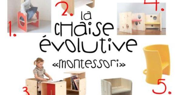 Minuscule Infini Chaise Evolutive Montessori Chaise