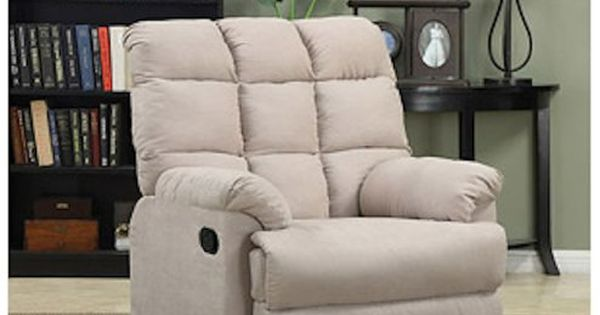 Armchair Recliner Chair a Large Rocking Overstuffed Wall Hugger ...