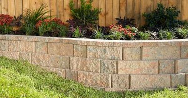 Pavestone Rockwall 2 In X 4 25 In X 9 In Palomino Concrete Wall Cap 320 Pcs 89 Lin Ft Pallet 79981 The Home Depot Landscaping Retaining Walls Front Garden Landscape Front Yard Decor