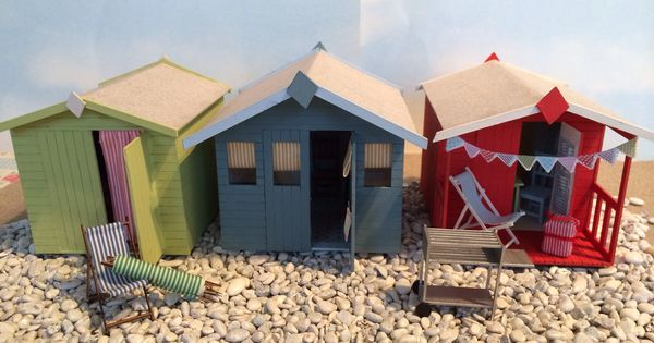Dolls House Miniature Beach Huts To Buy And Make Www