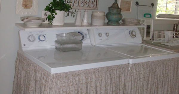 How To Hide Your Washer And Dryer Shabby Chic Style