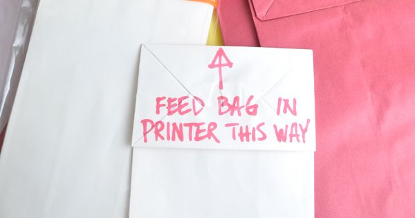Cool! print on paper bag instructions. Think of all the awesome party