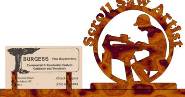 scrollsaw workshop  scroll saw artist business card stand