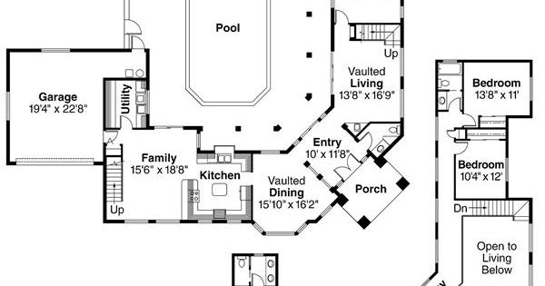 House plans with enclosed courtyard home plan 108 for Enclosed courtyard house plans